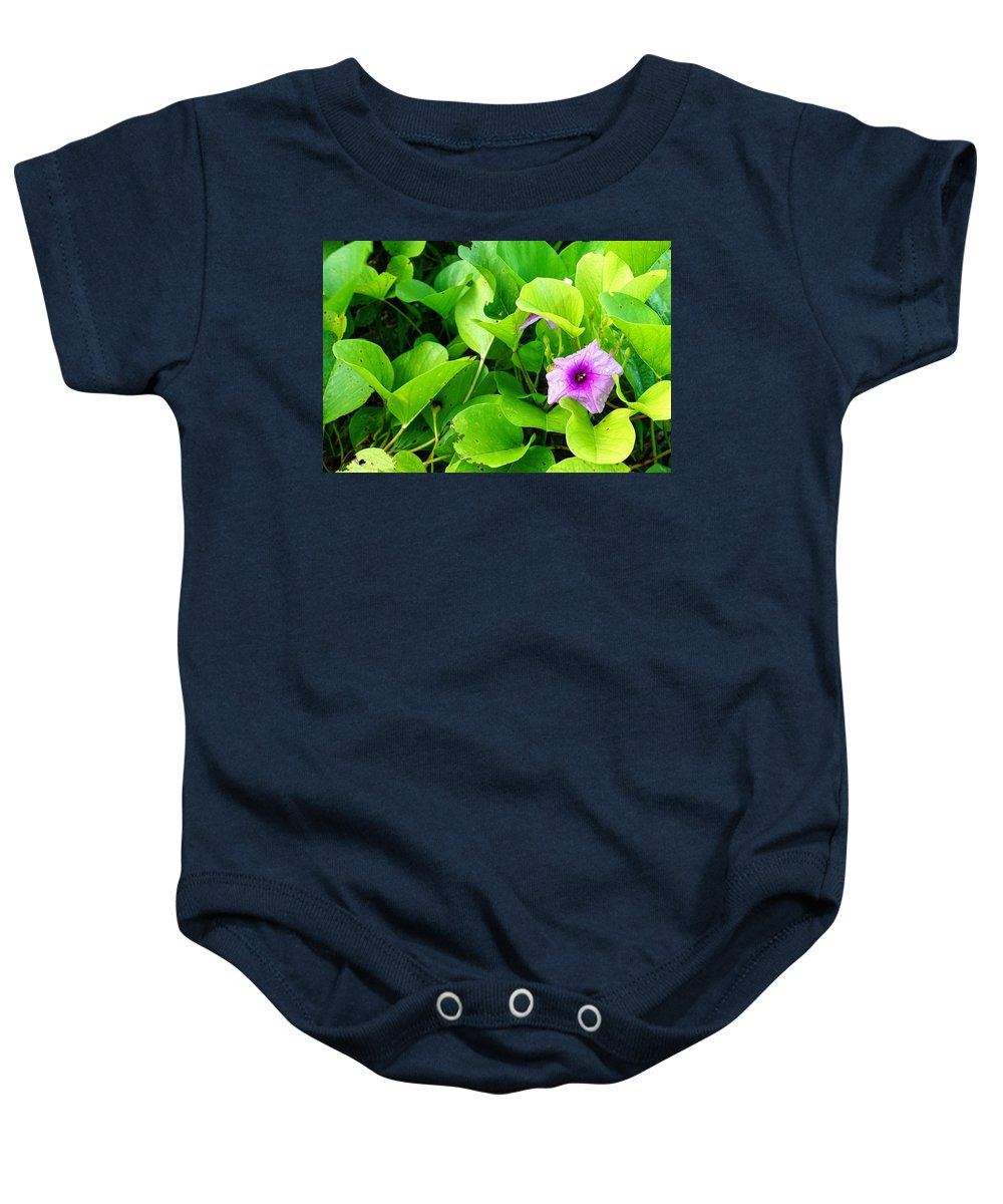Flower Baby Onesie featuring the photograph Tropical Rosewood In Hiding by Jade Phoenix