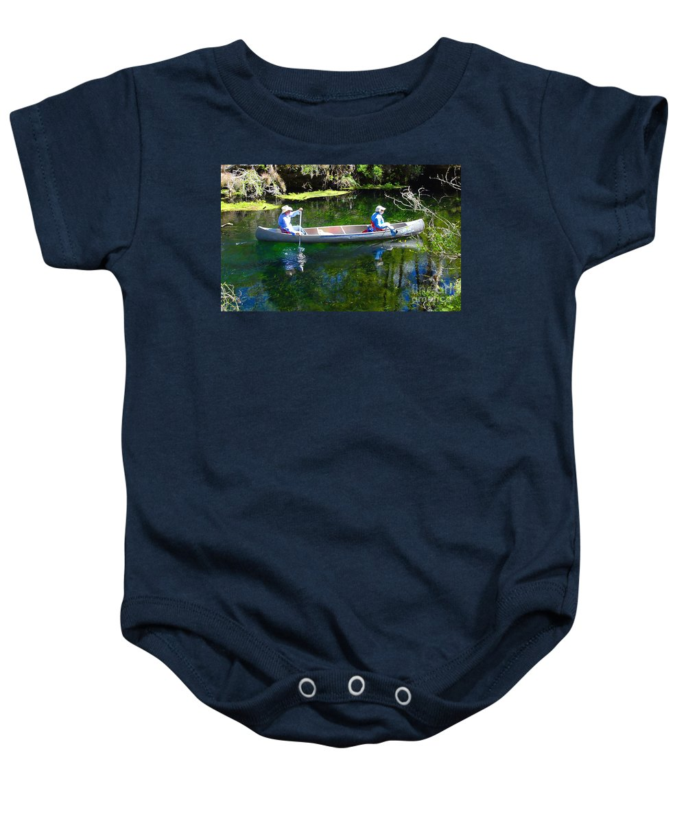 Canoe Baby Onesie featuring the photograph Two In A Canoe by David Lee Thompson