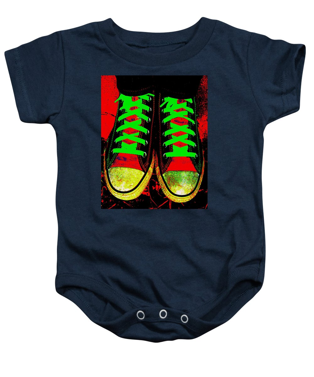 Still Life Baby Onesie featuring the photograph Two Left Feet by Ed Smith
