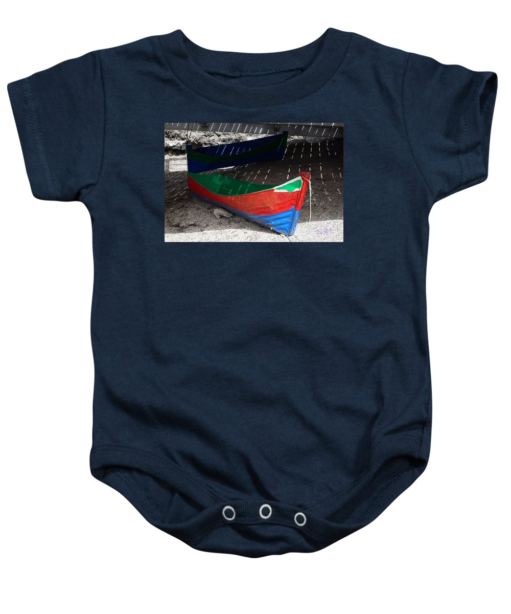 Boat Baby Onesie featuring the photograph Under The Boardwalk by Charles Stuart