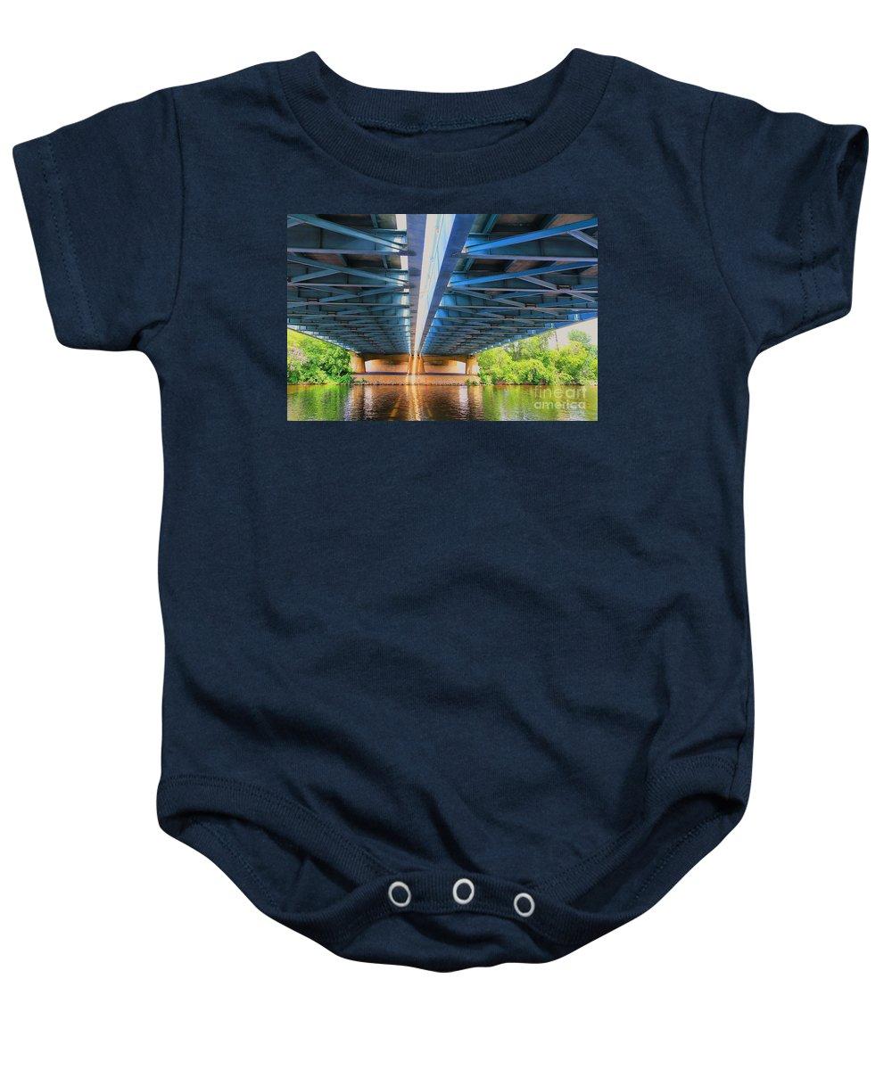 Bridge Baby Onesie featuring the photograph Under The Bridge by Teresa Zieba
