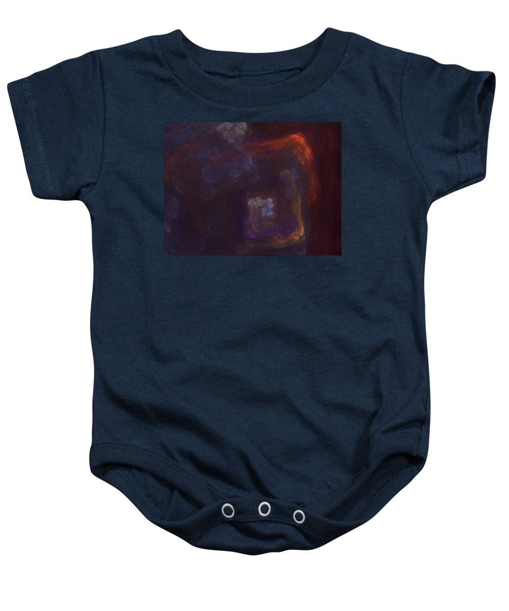 Fantasy Baby Onesie featuring the digital art Untitled 01-12-10-a by David Lane