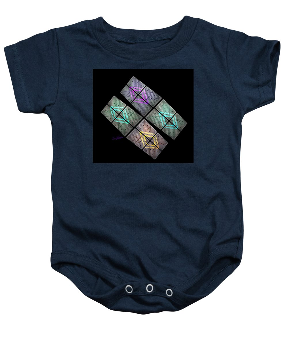 Science Fiction Baby Onesie featuring the photograph Urban Space Station by Charles Stuart