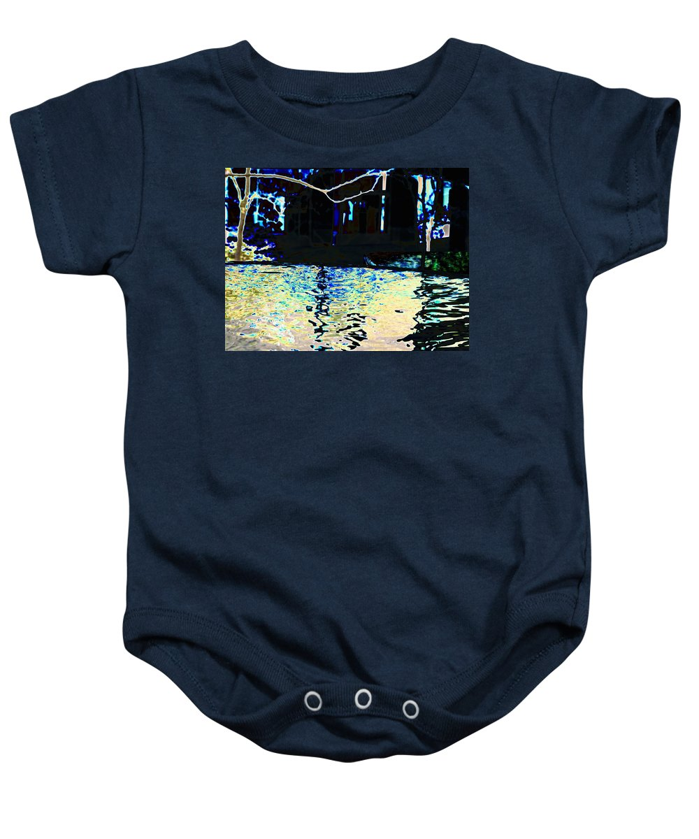 Seattle Baby Onesie featuring the photograph Urban Waterfall by Tim Allen