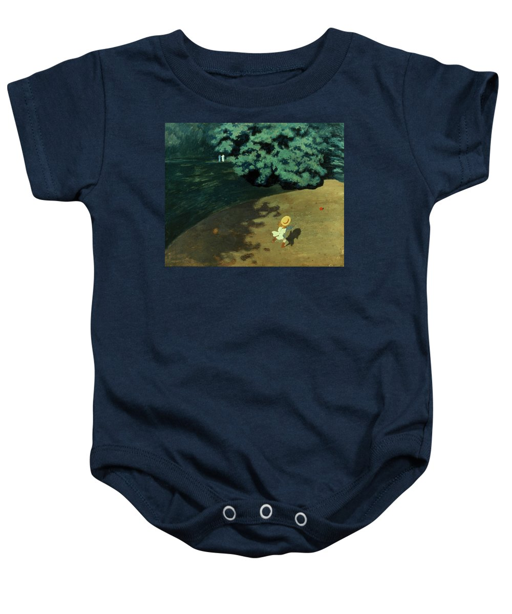 1899 Baby Onesie featuring the photograph Valloton: Balloon, 1899 by Granger