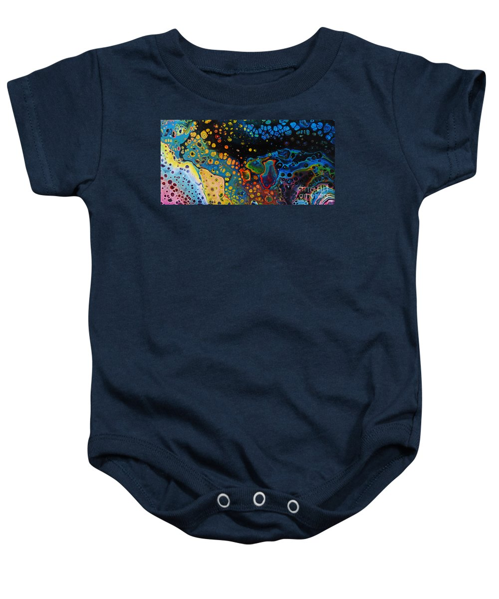 Vibrant Galaxy Baby Onesie featuring the painting Vibrant Galaxy. by Trudee Hunter