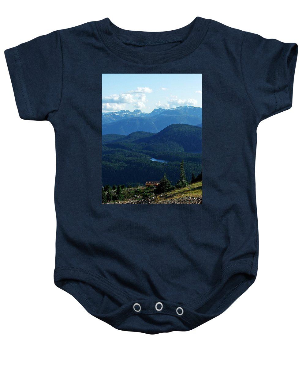 Scinec Baby Onesie featuring the photograph View From Mt. Wahington II by Robert Meanor