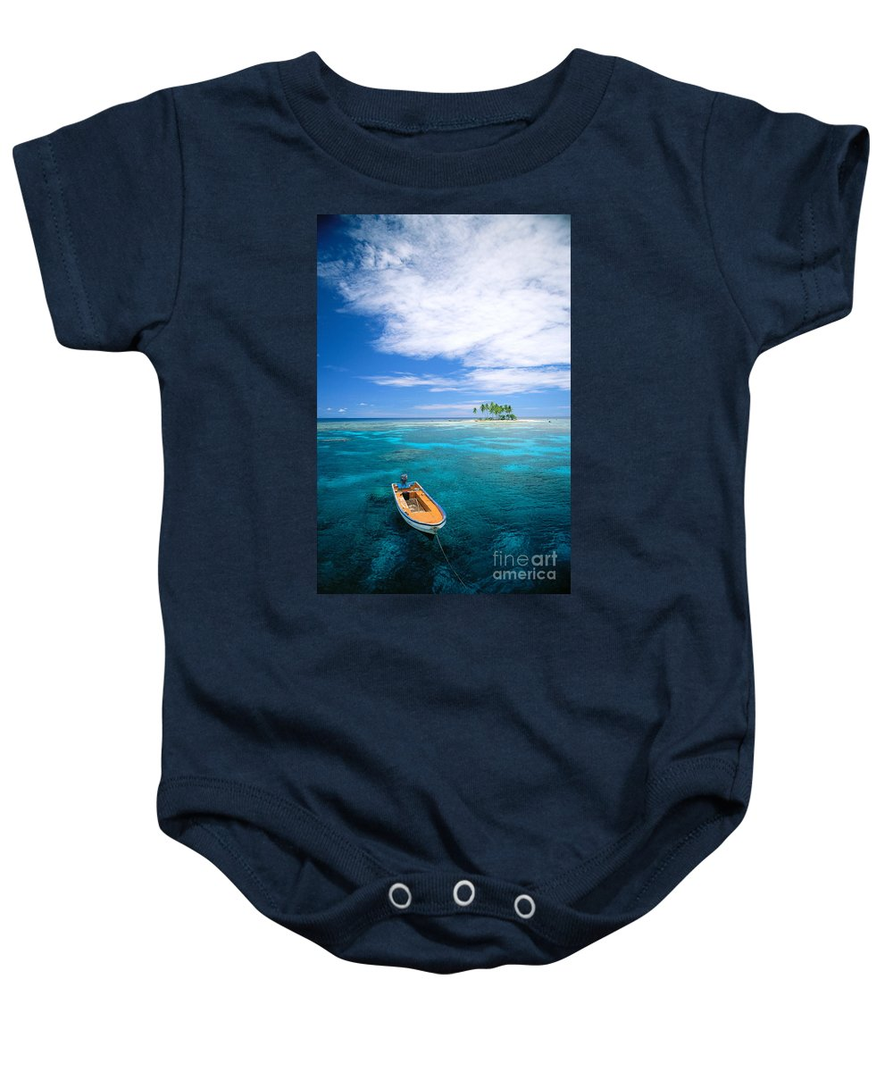 Blue Baby Onesie featuring the photograph View Of Micronesia by Rick Gaffney - Printscapes