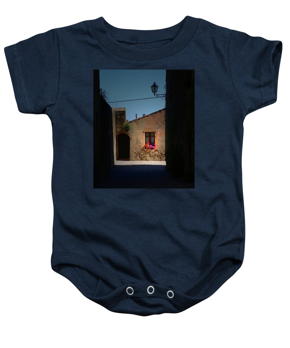 Window Baby Onesie featuring the photograph View Wiith A Window by Angela Wright