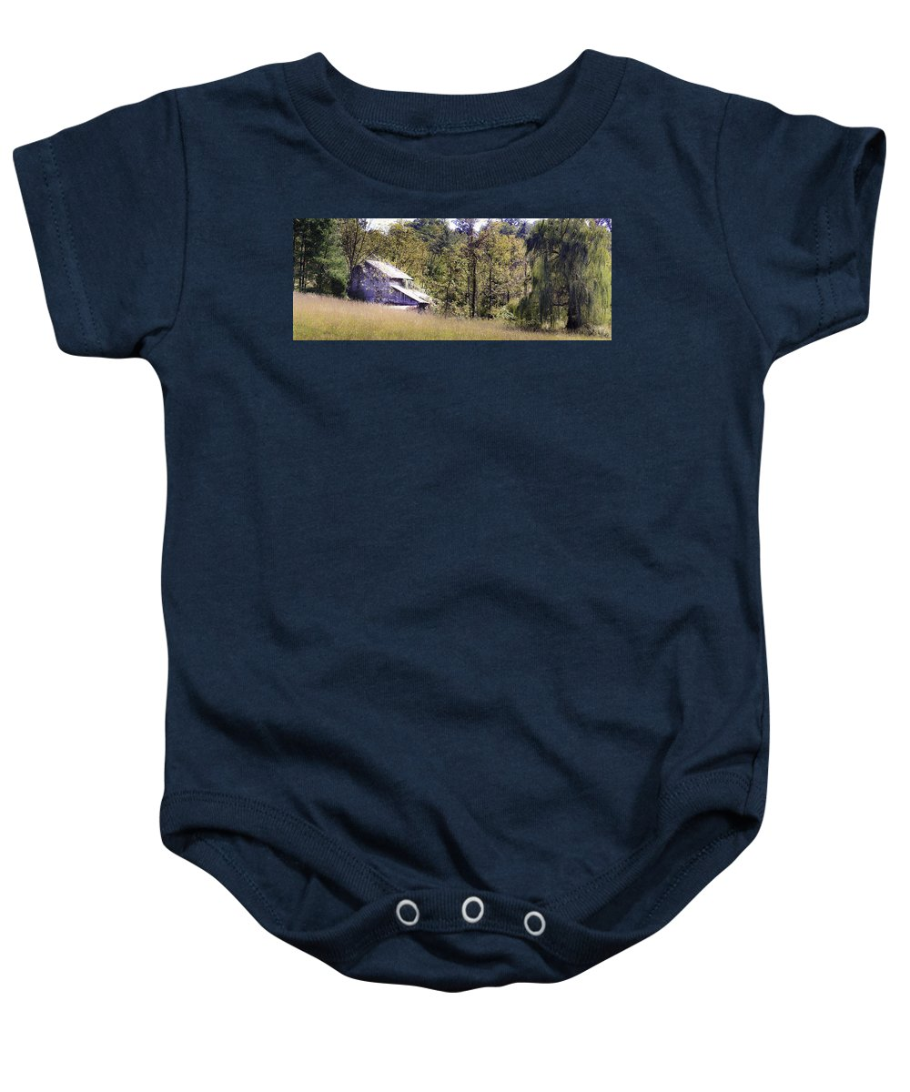 Virginia Baby Onesie featuring the photograph Virginia Willow by Teresa Mucha
