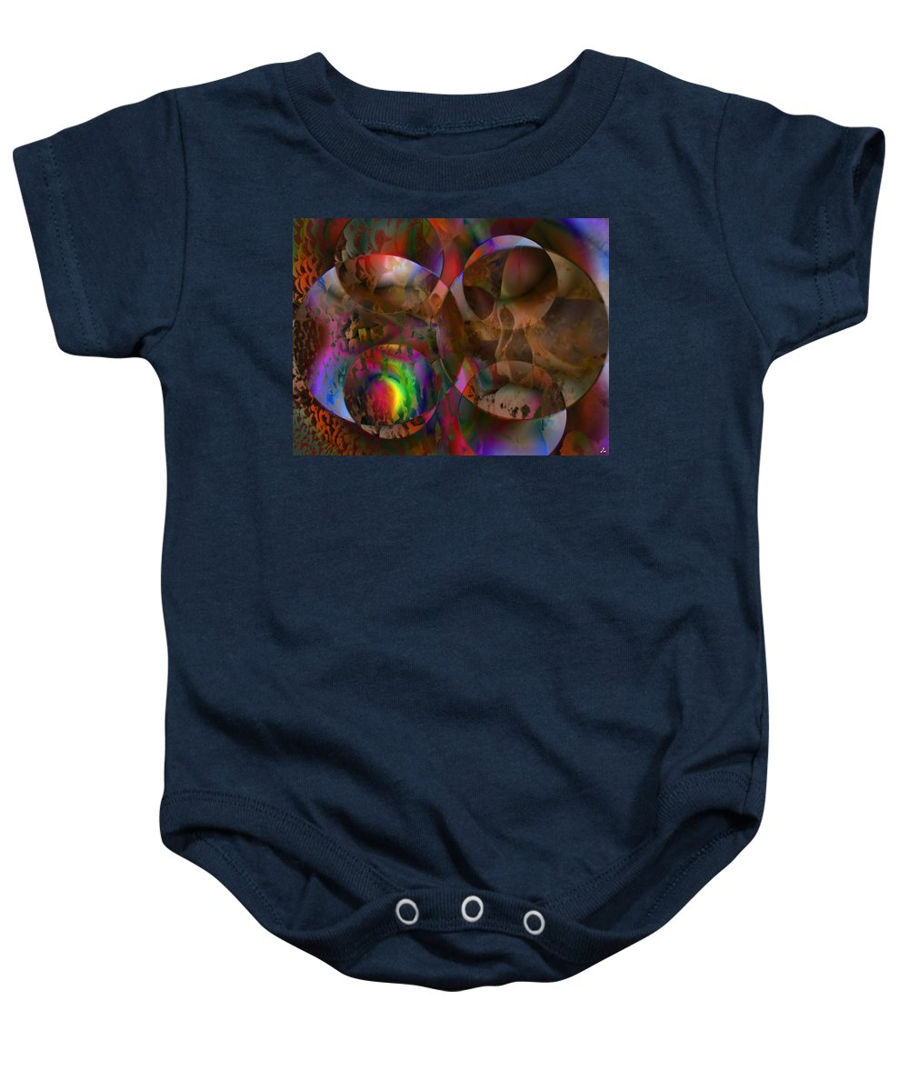 Colors Baby Onesie featuring the digital art Vision 24 by Jacques Raffin