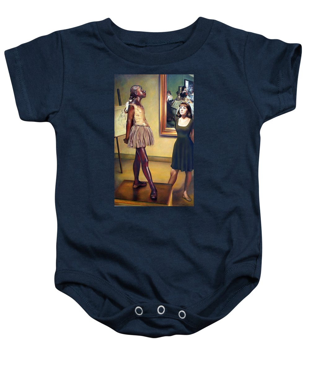 Edgar Degas Baby Onesie featuring the pastel Visit To The Museum by Patrick Anthony Pierson