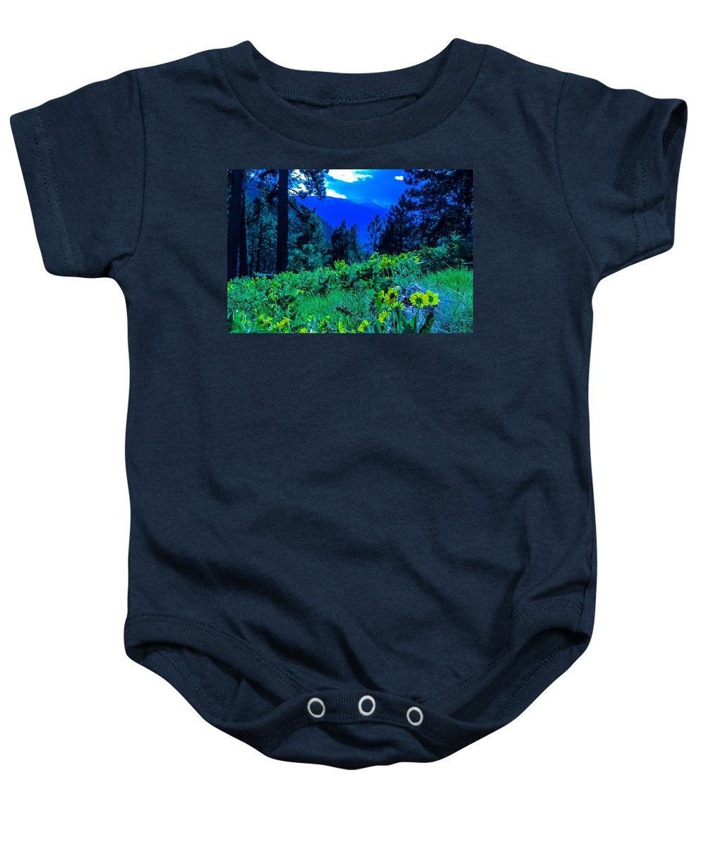 Baby Onesie featuring the photograph Vivacious Vibes by Dan Hassett