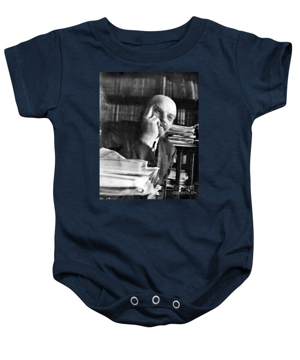 1920 Baby Onesie featuring the photograph Vladimir Lenin (1870-1924) by Granger