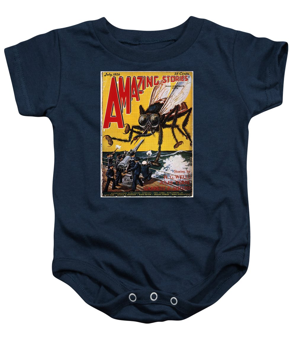 1927 Baby Onesie featuring the photograph War Of The Worlds, 1927 by Granger