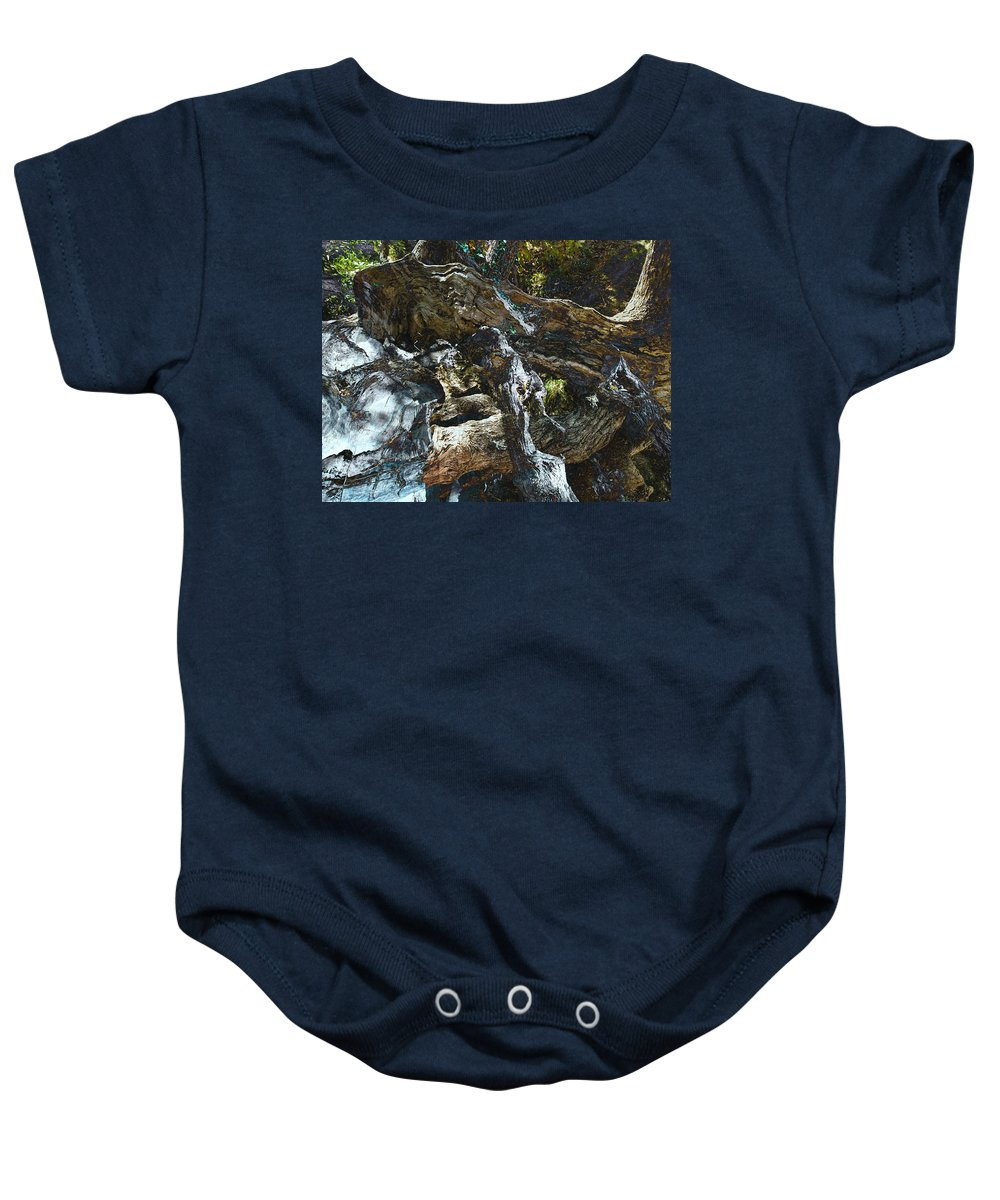 Trees Baby Onesie featuring the photograph Washed Away by Kelly Jade King