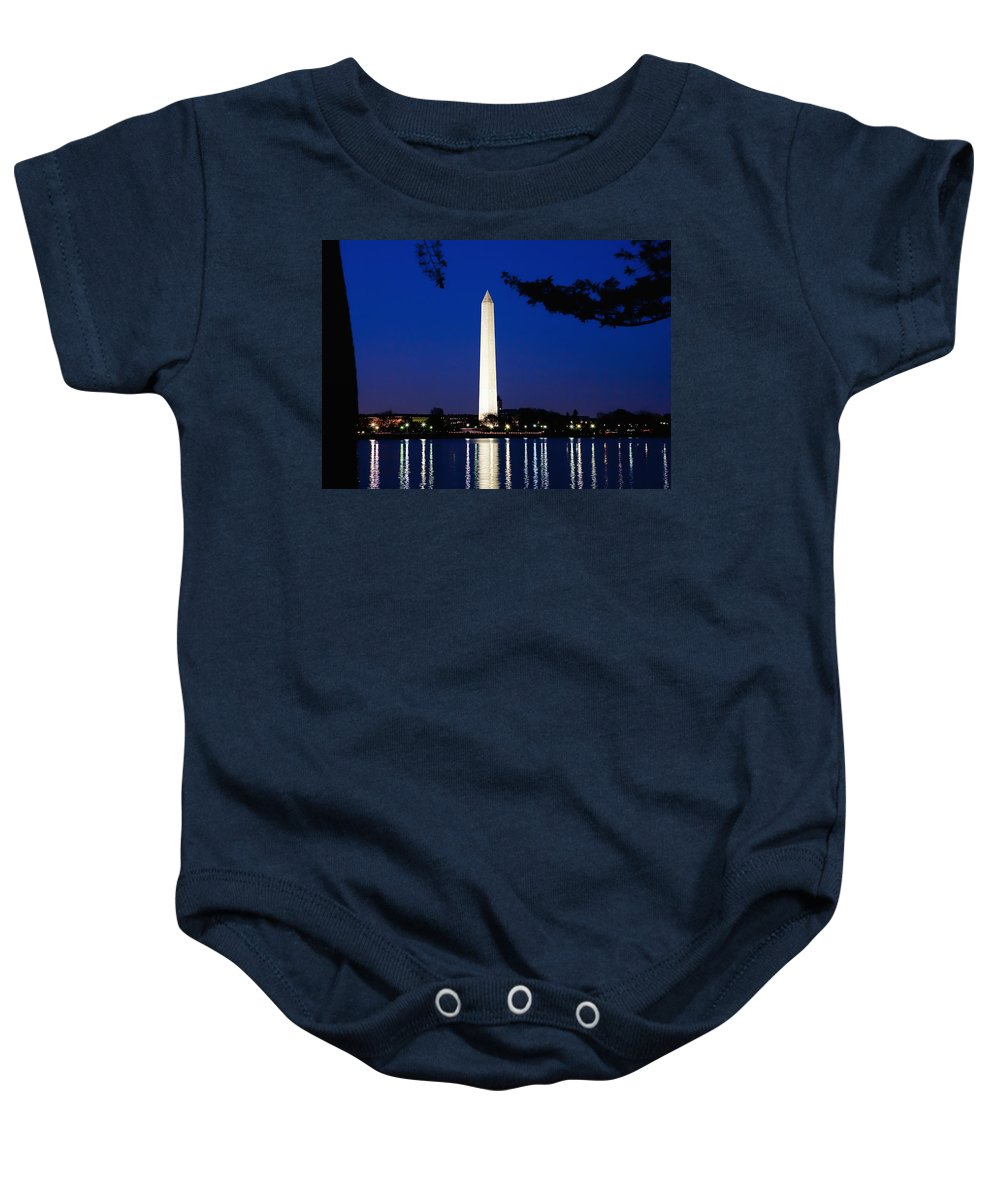 Landscape Baby Onesie featuring the photograph Washington Monument by John K Sampson