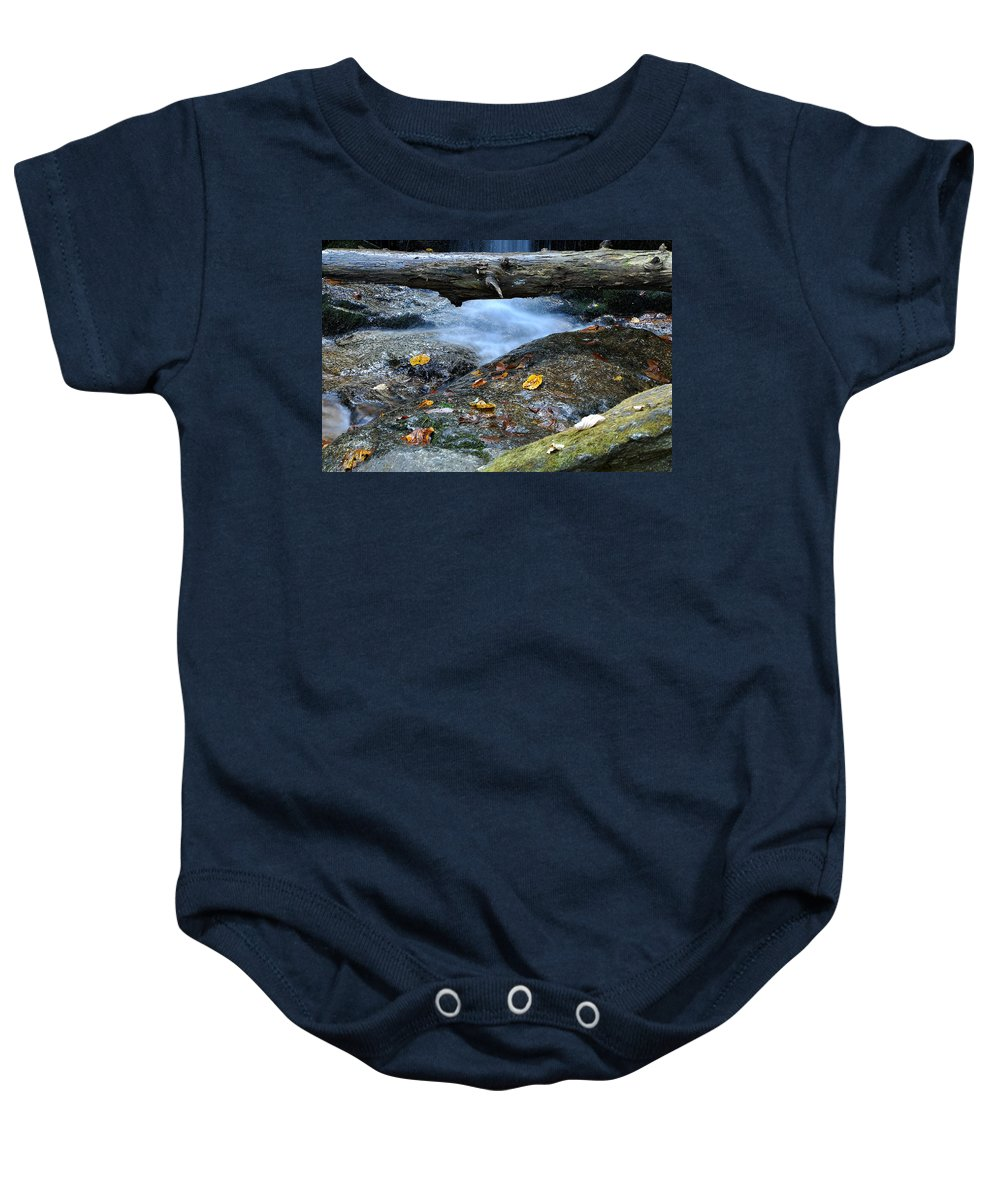 Water Falls Baby Onesie featuring the photograph Water Falls by Todd Hostetter