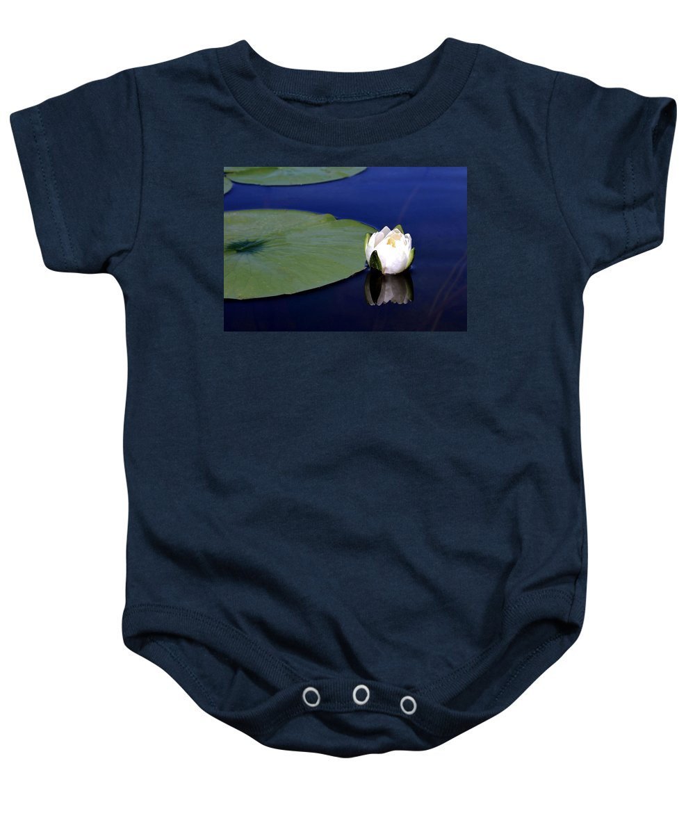 Water Lily Baby Onesie featuring the photograph Water Lily by Kristin Elmquist