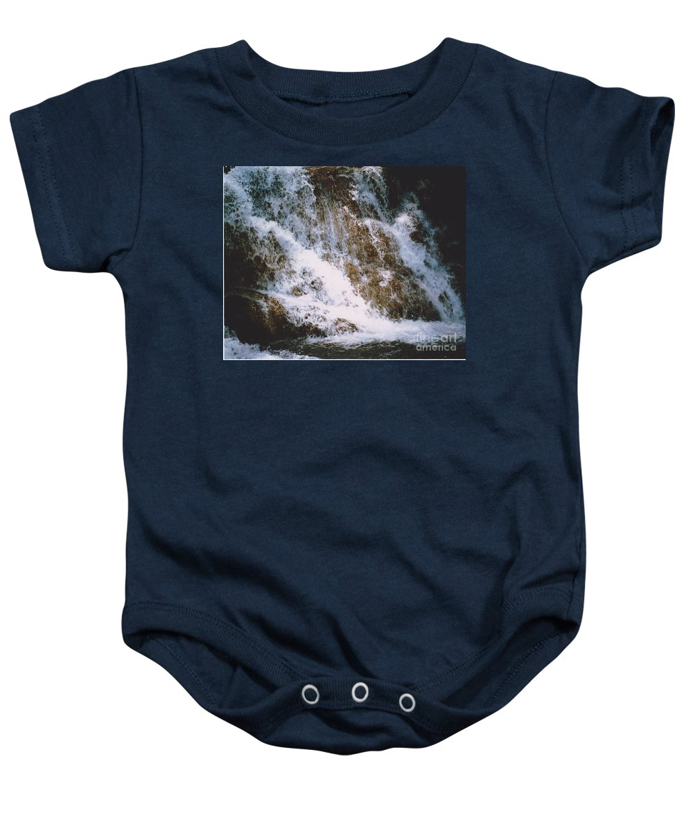 Water Baby Onesie featuring the photograph Waterfall by Michelle Powell