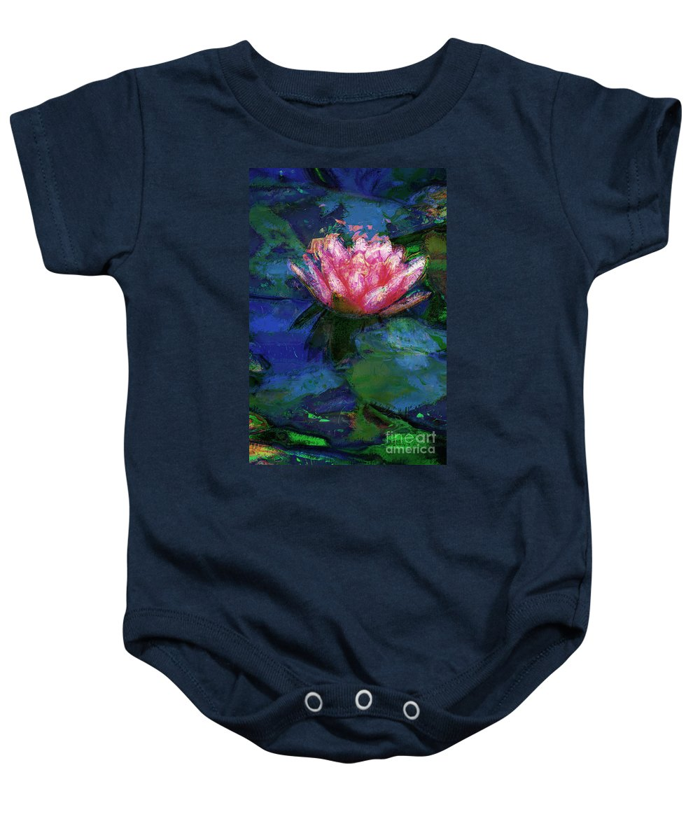 Waterlily Baby Onesie featuring the photograph Waterlily by Donna Bentley