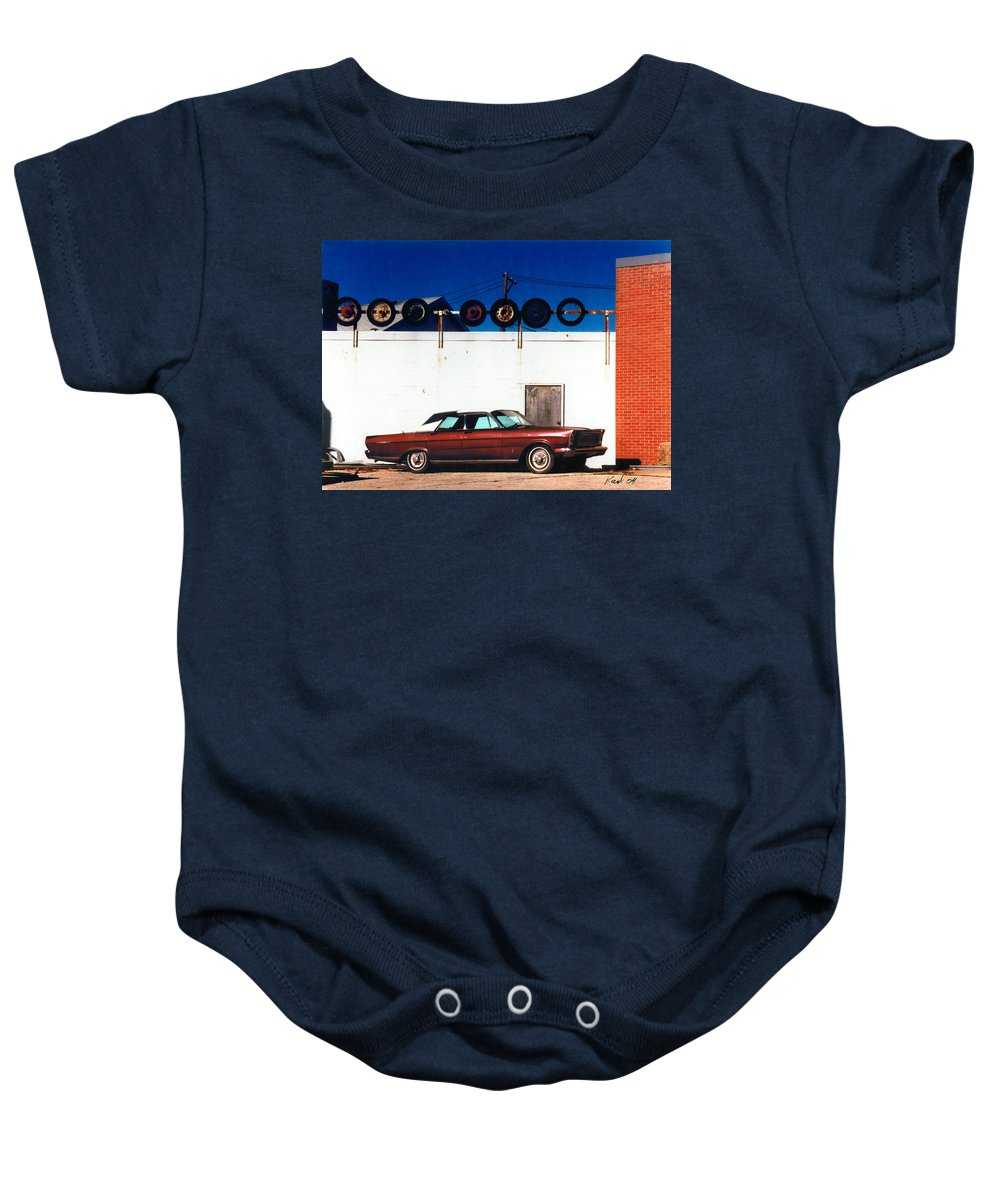 Cars Baby Onesie featuring the photograph Wheels by Steve Karol
