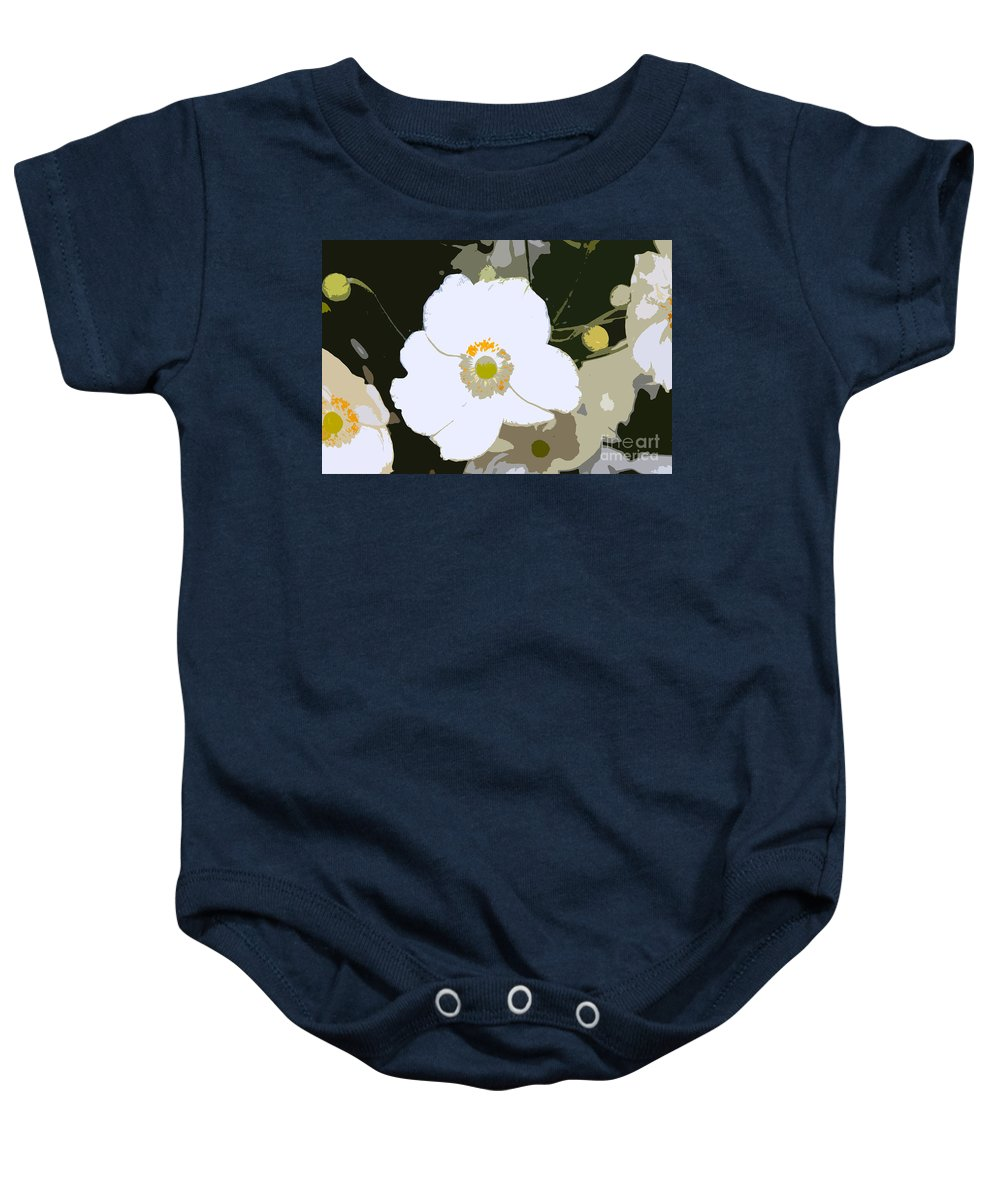 Flower Baby Onesie featuring the photograph White Beauty Work Number 6 by David Lee Thompson
