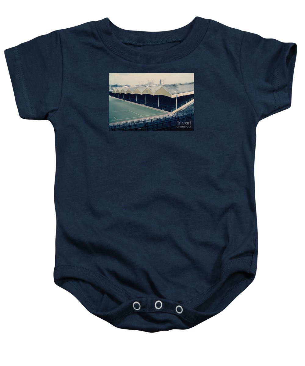 Baby Onesie featuring the photograph Wolverhampton - Molineux - Molineux Street Stand 2 - Leitch - 1970s by Legendary Football Grounds