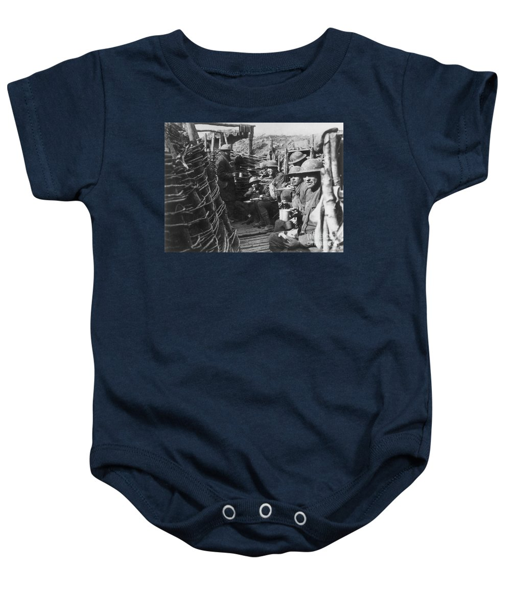 1918 Baby Onesie featuring the photograph World War I: U.s. Troops by Granger
