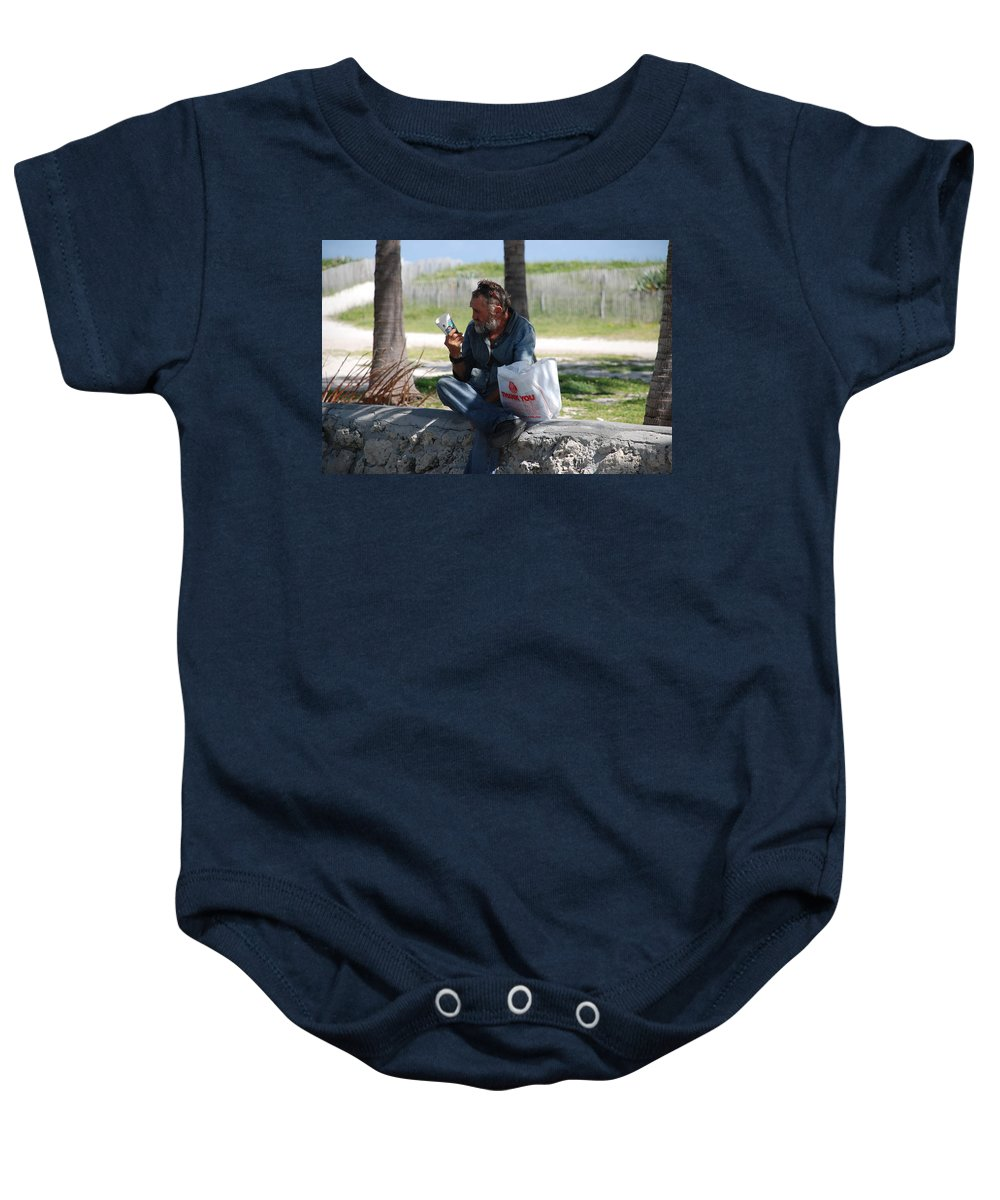 Man Baby Onesie featuring the photograph Worldly Posessions by Rob Hans