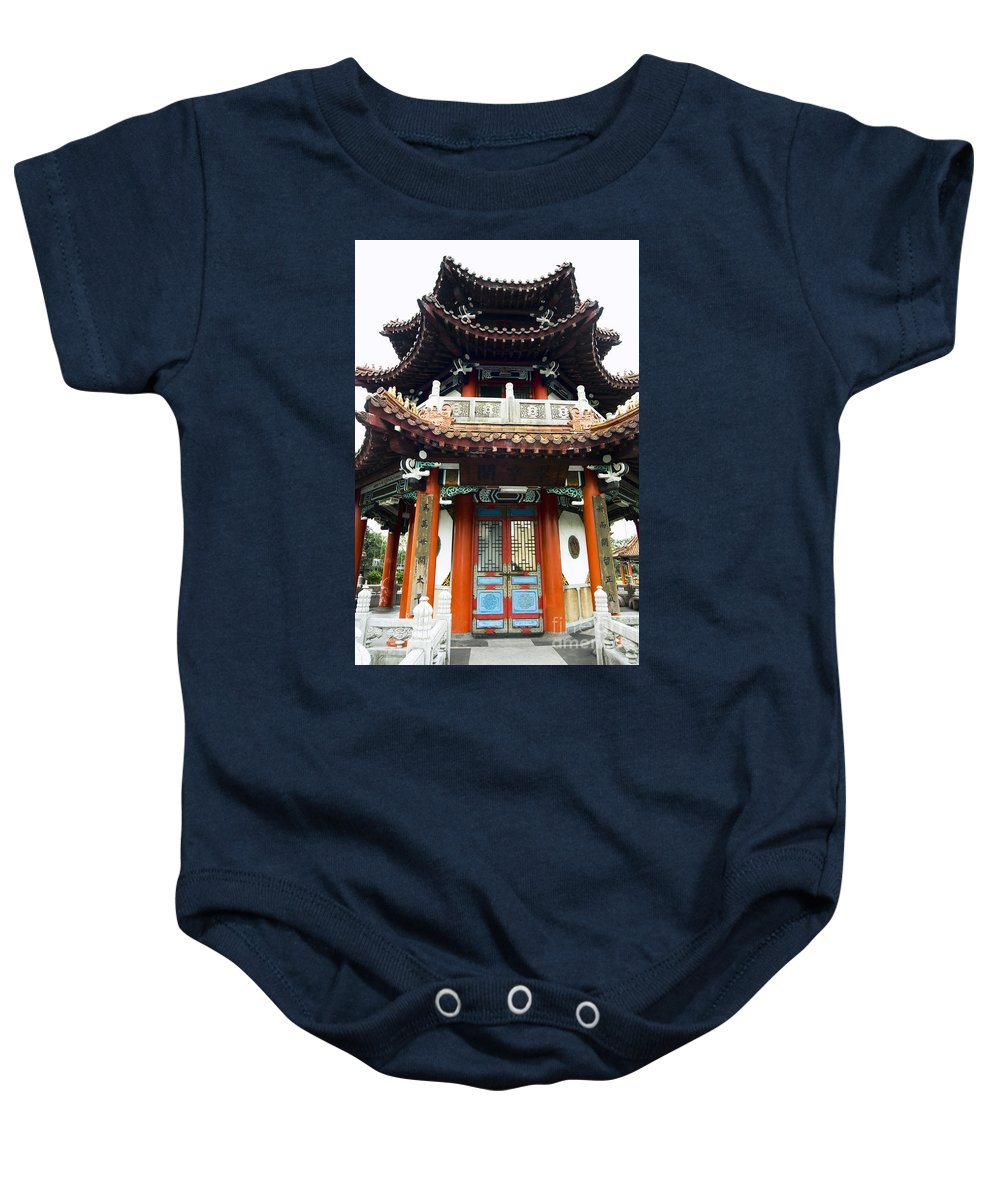 Angle Baby Onesie featuring the photograph Worship Temple by Bill Brennan - Printscapes