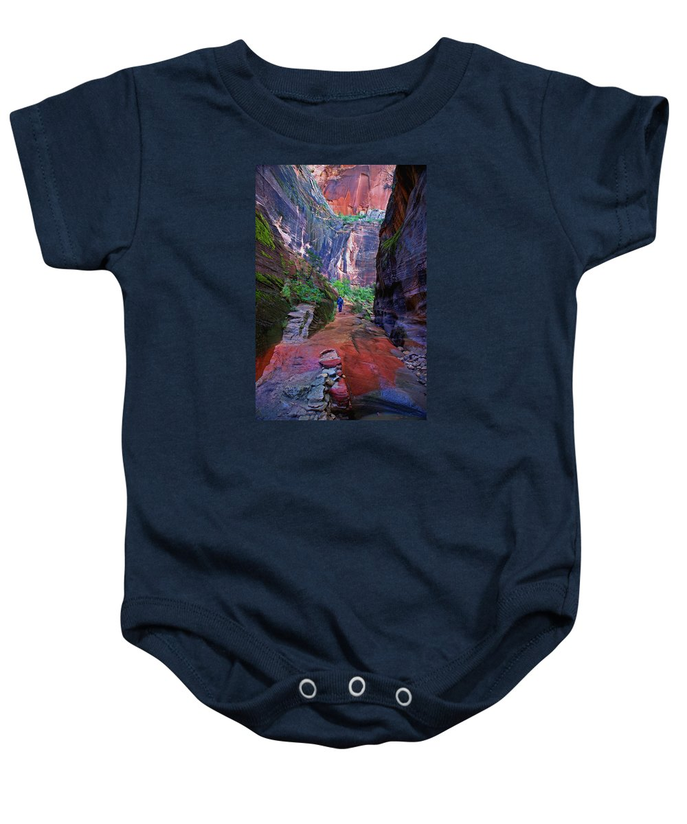 Zion Baby Onesie featuring the photograph Zion Canyon by Martin Massari