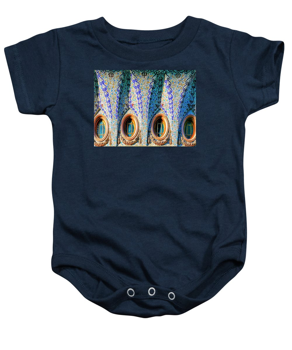 Barcelona Baby Onesie featuring the photograph Barcelona Mosaic by Dominic Piperata