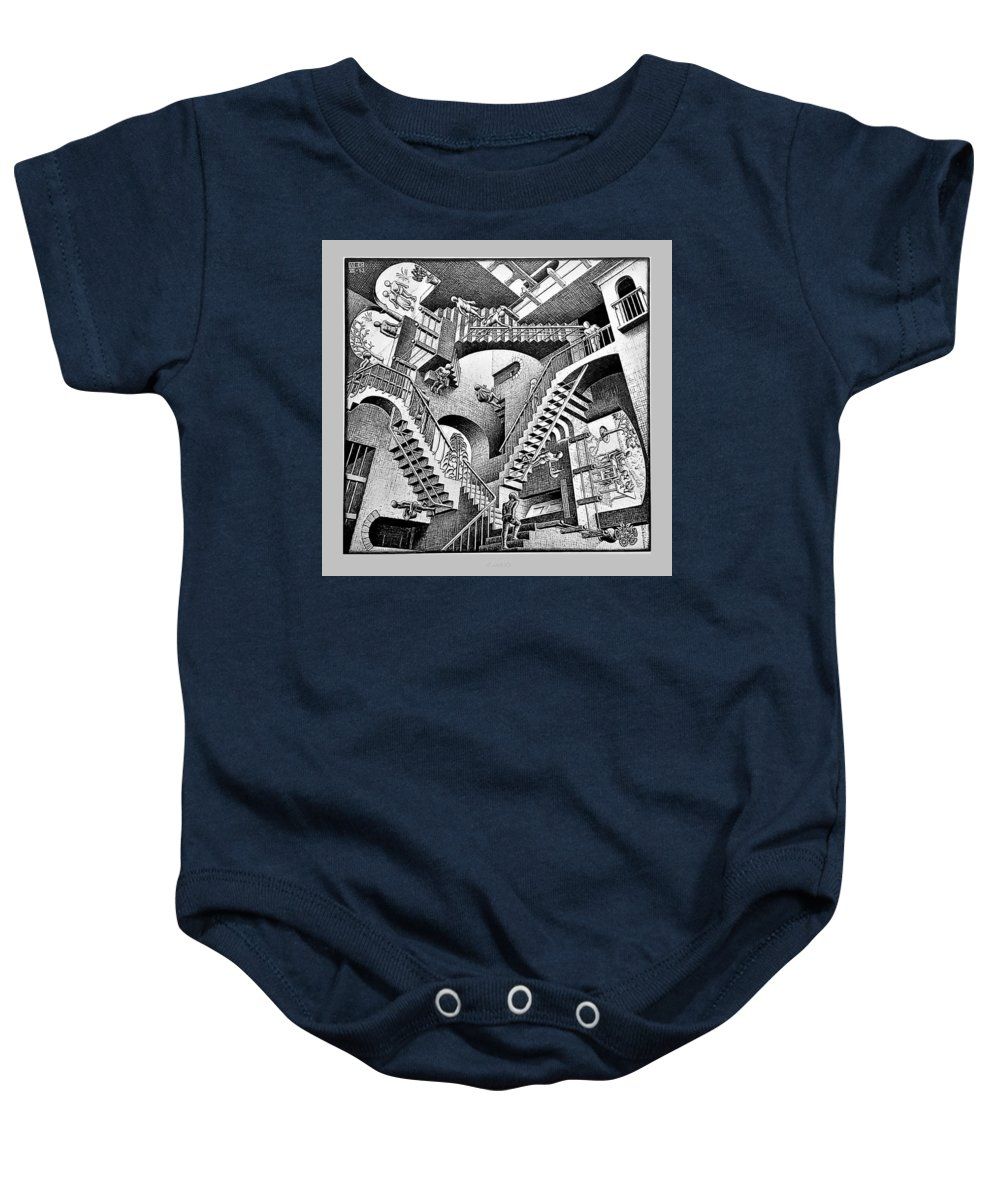Maurits Cornelis Escher Baby Onesie featuring the photograph Escher 131 by Rob Hans