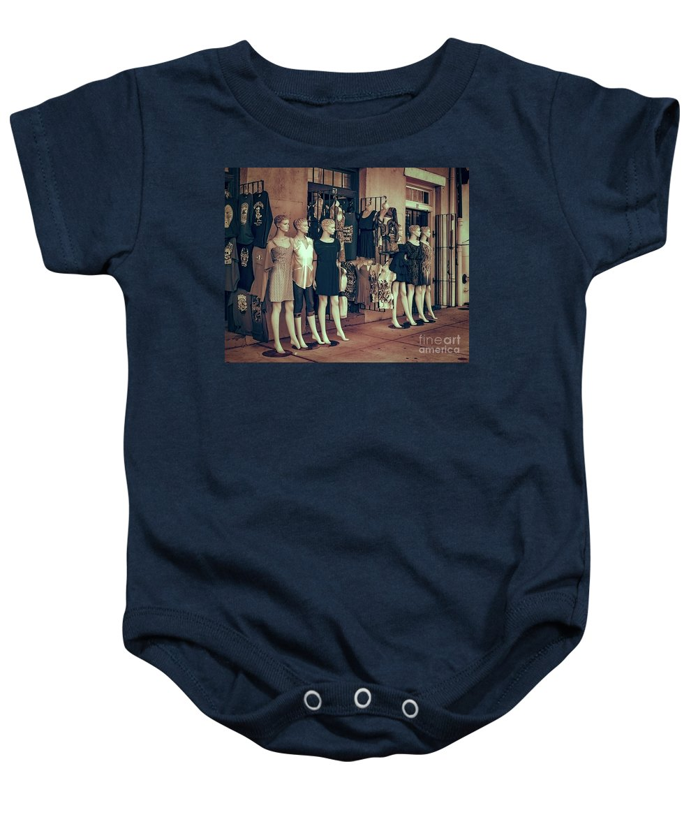 Clones Baby Onesie featuring the photograph The Clones At The French Market by Kathleen K Parker