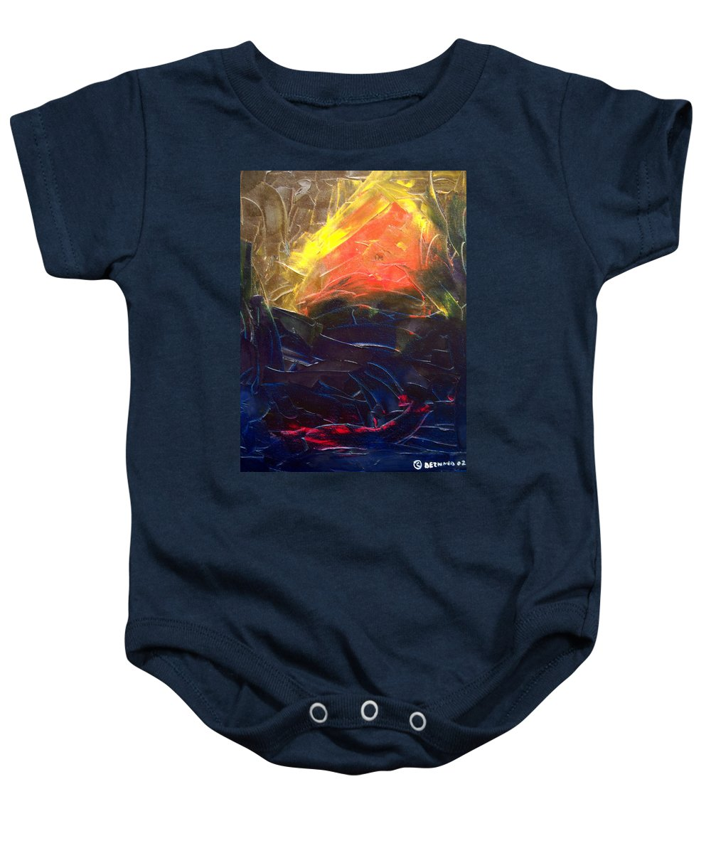 Duck Baby Onesie featuring the painting Forest .Part1 by Sergey Bezhinets