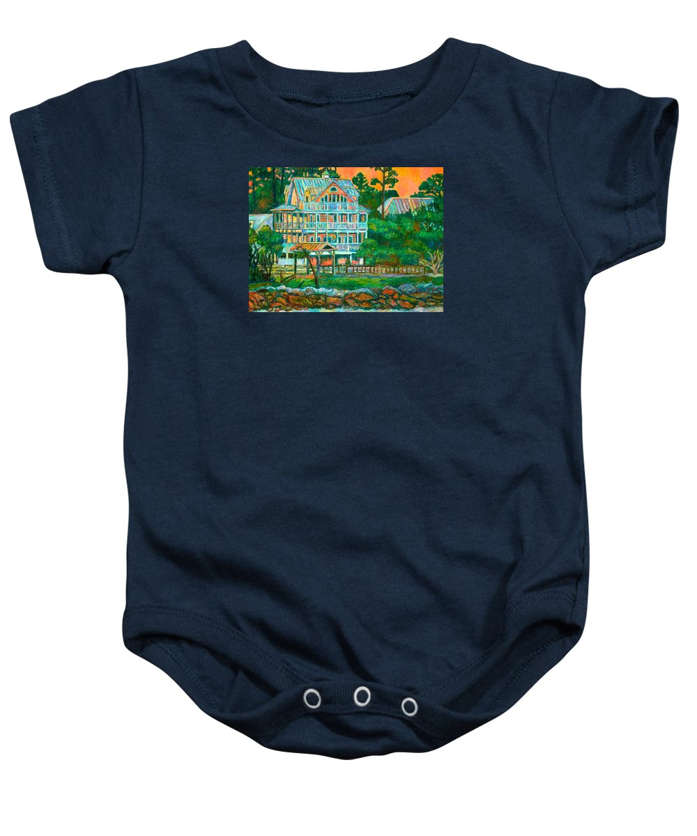 Landscape Baby Onesie featuring the painting Pawleys Island Evening by Kendall Kessler