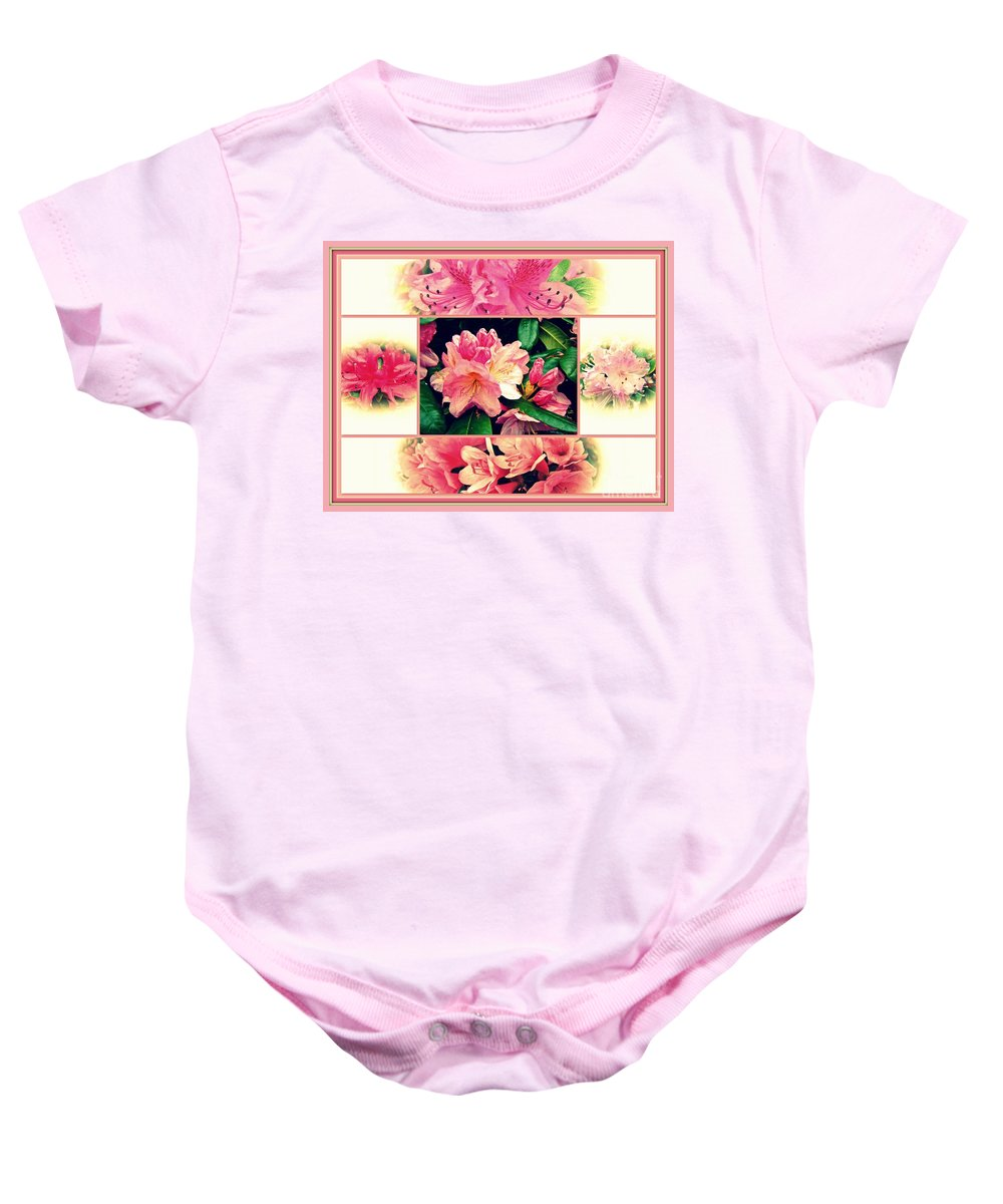 Azaleas Baby Onesie featuring the photograph Azaleas 1950's Style by Mother Nature