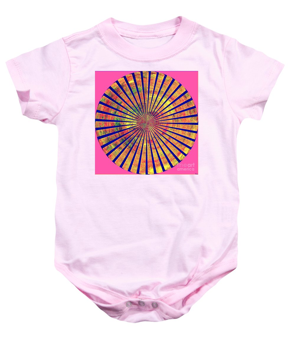 Abstract Art Of Good Color Baby Onesie featuring the digital art 0966 Abstract Thought by Chowdary V Arikatla