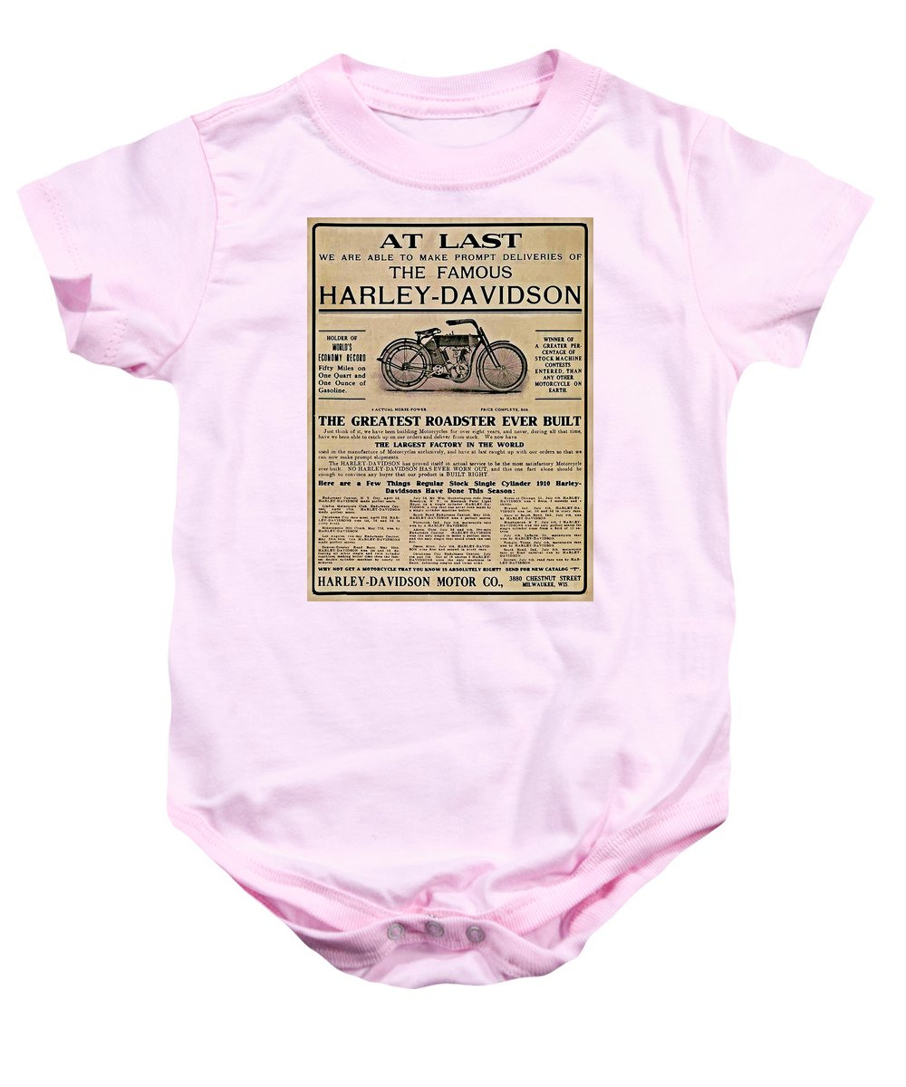 At Last1910 Baby Onesie featuring the photograph At Last by Bill Cannon