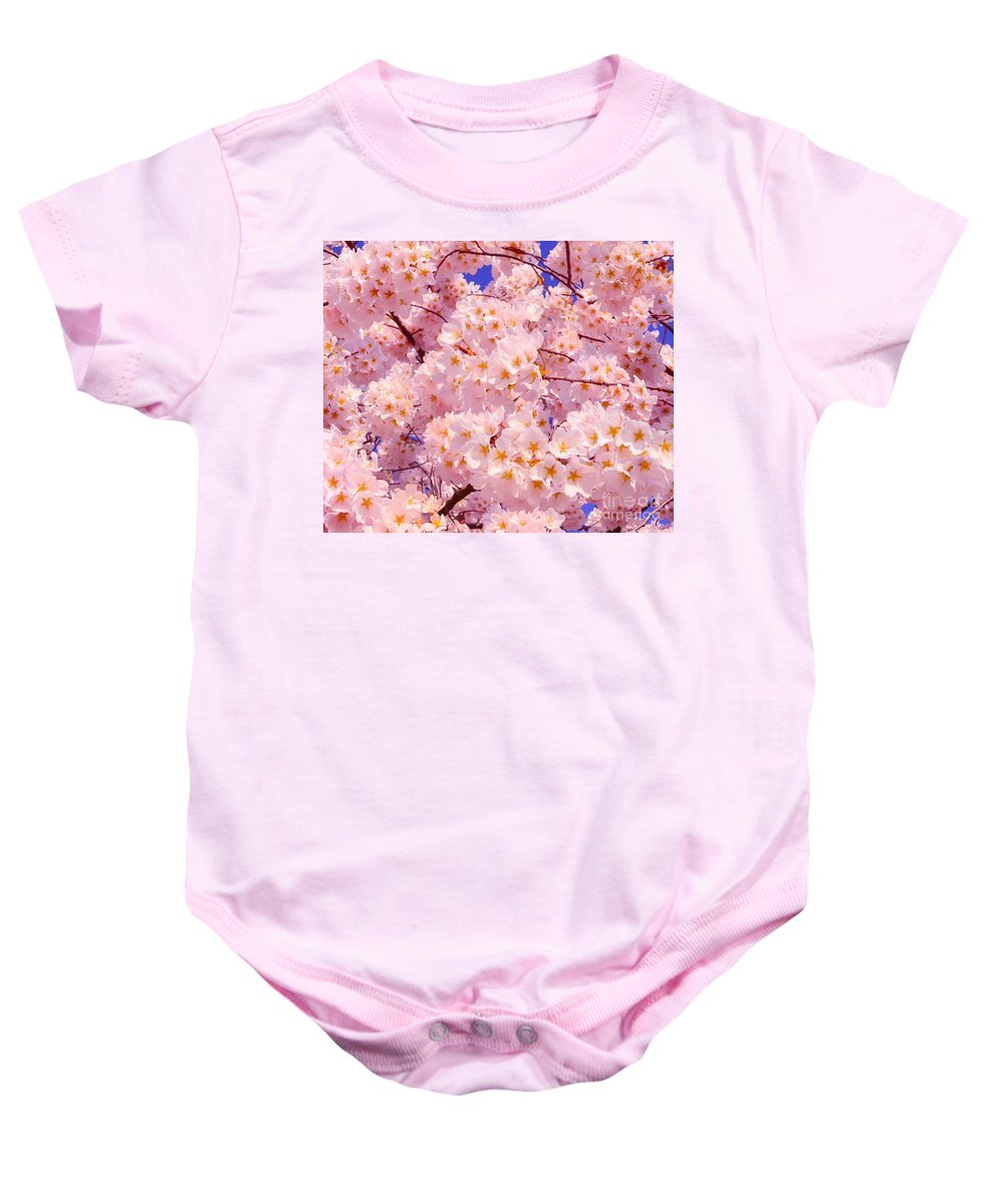 2012 Centennial Celebration Baby Onesie featuring the photograph Bursting With Blossoms by Jeff at JSJ Photography