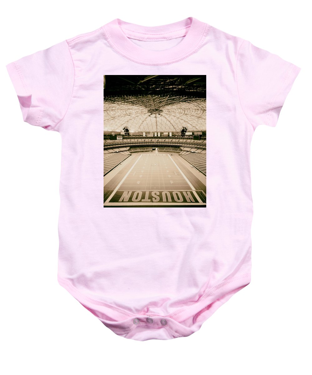 Astrodome Baby Onesie featuring the photograph Interior Of The Old Astrodome by Mountain Dreams