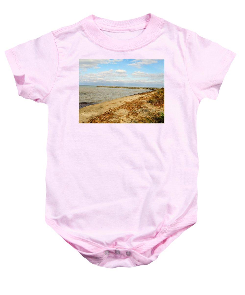 Lake Ontario Baby Onesie featuring the photograph Lake Ontario Shoreline by Lou Cardinale