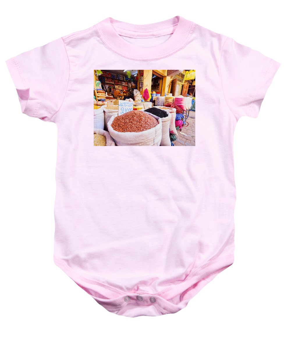 Africa Baby Onesie featuring the photograph Market In Fes In Morocco by Karol Kozlowski