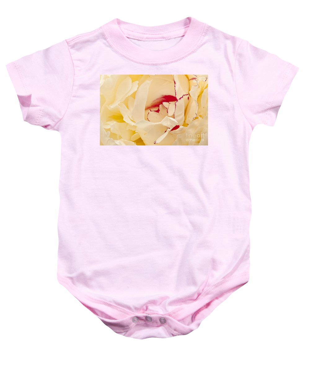 Flowers Baby Onesie featuring the photograph Peony by Steven Ralser