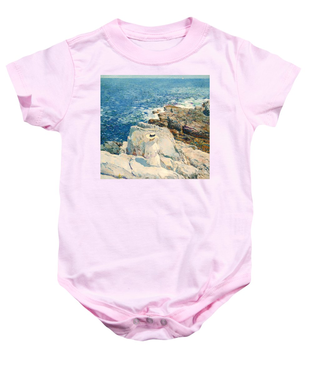 Painting Baby Onesie featuring the painting The South Ledges Appledore by Mountain Dreams