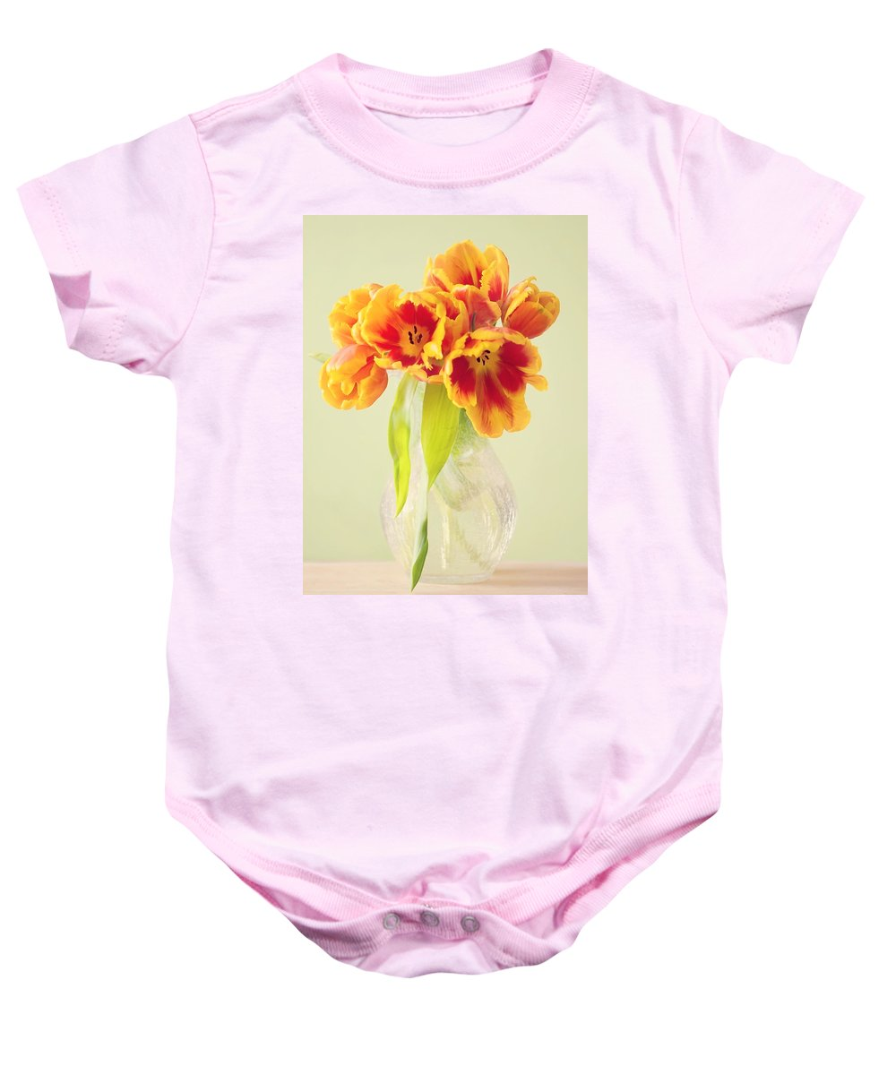 Tulpe Baby Onesie featuring the pyrography Tulips by Steffen Gierok