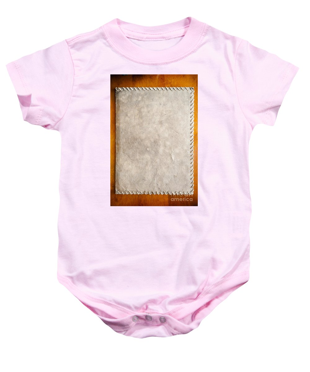 Abstract Baby Onesie featuring the photograph Old Paper Texture by Tim Hester