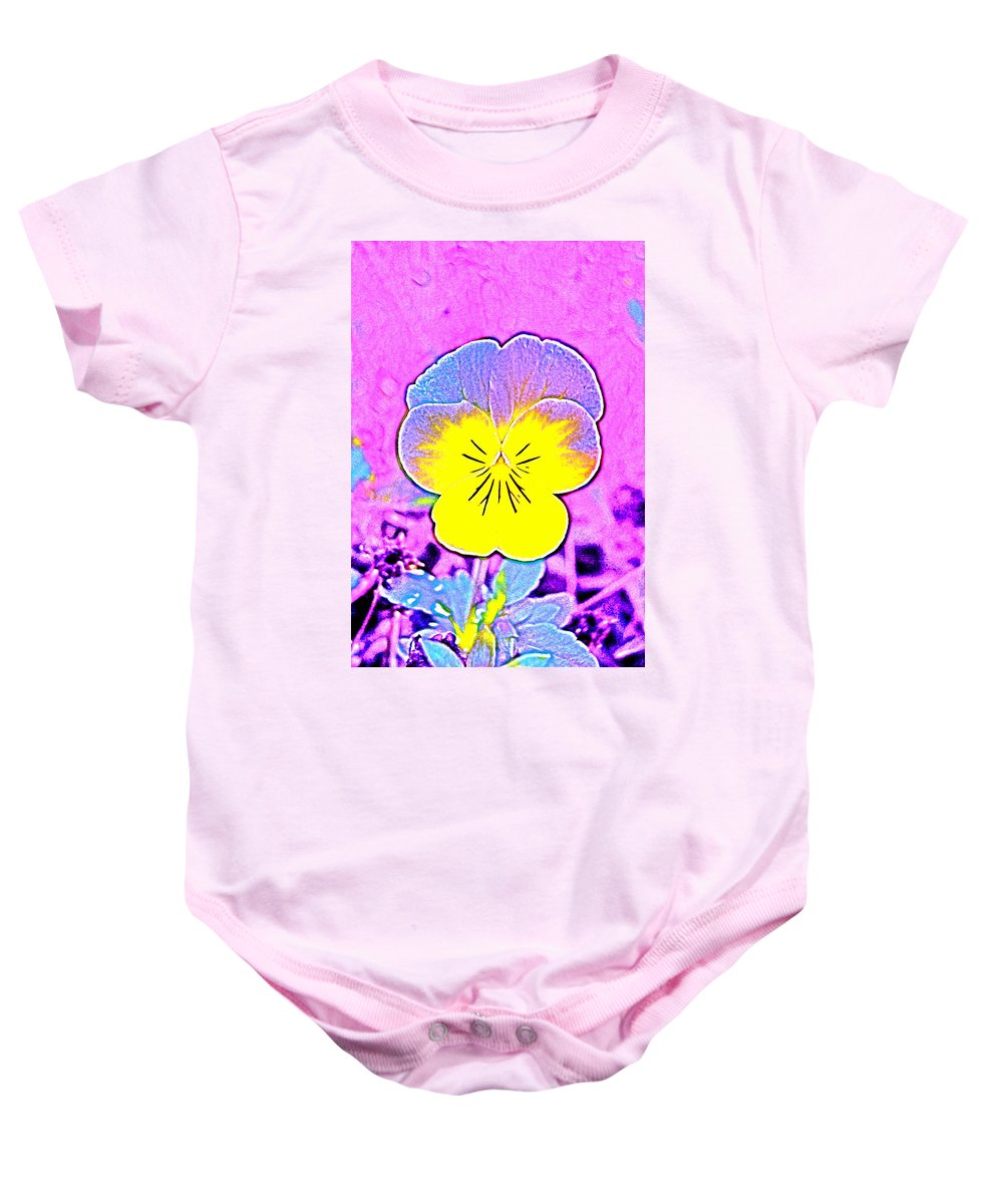 Flower Baby Onesie featuring the photograph Pansy 1 by Pamela Cooper