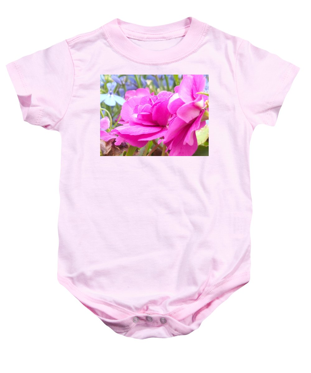 Flower Baby Onesie featuring the photograph Pretty Pink Flower by Line Gagne